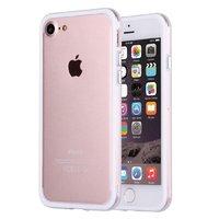 """Белый пластиковый бампер с прозрачной полоской для iPhone 7 (4.7"""")"""