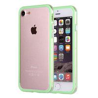 """Зеленый бампер для iPhone 7 (4.7"""") пластиковый с прозрачной полосой"""