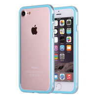 """Голубой пластиковый бампер с прозрачной полосой для iPhone 7 (4.7"""")"""