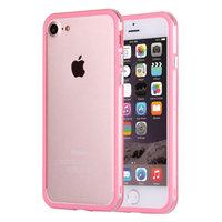 """Розовый пластиковый бампер для iPhone 7 (4.7"""") с прозрачной полосой"""