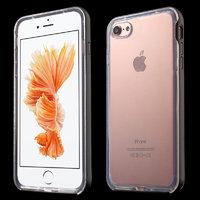 Прозрачный силиконовый чехол с черным бампером для iPhone 7 / 8