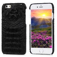 Чехол накладка для iPhone 6s / 6 имитация крокодиловой кожи черный