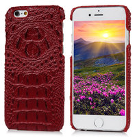 Чехол накладка для iPhone 6s / 6 имитация крокодиловой кожи красный