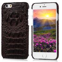 Чехол накладка для iPhone 6s / 6 имитация крокодиловой кожи коричневый