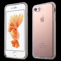 Прозрачный силиконовый чехол c серебристым бампером для iPhone 7 / 8