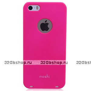 Накладка Moshi iGlaze 5 для iPhone 5 / 5s / SE розовая