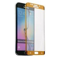 Стекло защитное для Samsung GALAXY S6 Edge - Premium Glass 0.26mm золотой закругленный край