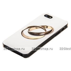 Задняя накладка для iPhone 5 / 5s / SE золотые кольца