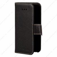 Черный кожаный чехол Melkco Wallet Book Type Black для iPhone 5s / SE / 5