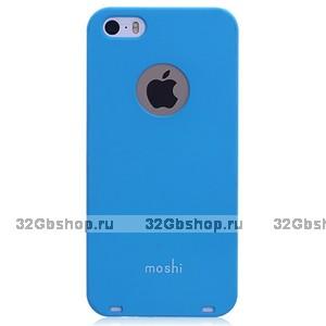 Накладка Moshi iGlaze 5 для iPhone 5 / 5s / SE голубая