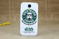 Чехол накладка для Samsung Galaxy S4 i9500 Star wars coffee