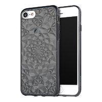 Черный прозрачный силиконовый 3D чехол для iPhone 7 / 8 бриллиант - 3D Diamond Black Transparent Case