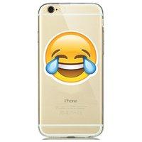 """Прозрачный силиконовый чехол для iPhone 6s / 6 (4.7"""") с рисунком смайл улыбка и слезы"""