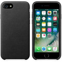 Черный кожаный чехол для Apple iPhone 7 / 8 Leather Case Black