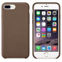 Коричневый кожаный чехол для Apple iPhone 7 Plus / 8 Plus Leather Case Brown