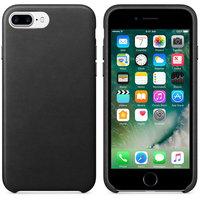 Черный кожаный чехол для Apple iPhone 7 Plus / 8 Plus Leather Case Black