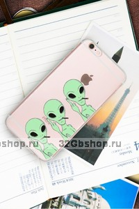 Силиконовый чехол для iPhone 7 / 8 рисунок Инопланетяне - Гуманоиды