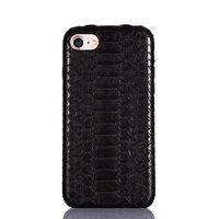 Премиум чехол из кожи змеи для iPhone 7 / 8 черный питон