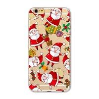 Чехол накладка для iPhone 5s / SE / 5 прозрачный силикон с рисунком Дед Мороз