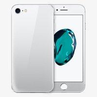 Защитное стекло для iPhone 7 / 8 -  на две стороны серебро