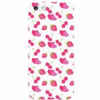 """Прозрачный силиконовый чехол для iPhone 6 / iPhone 6s (4.7"""") с рисунком ягоды и сердечки"""
