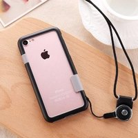 """Черный бампер пластик + силикон для iPhone 7 (4.7"""")"""
