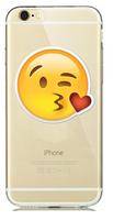 """Прозрачный силиконовый чехол для iPhone 6 / iPhone 6s (4.7"""") с рисунком смайл ,сердце - поцелуй"""