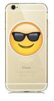 """Прозрачный силиконовый чехол для iPhone 6 / iPhone 6s (4.7"""") с рисунком смайл в очках"""