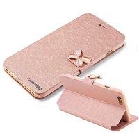 """Чехол книжка - подставка для iPhone 6 Plus / 6s Plus (5.5"""") золотая с застежкой бабочкой и отсеком для хранения карт"""