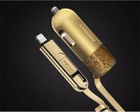 Автомобильное зарядное устройство REMAX GOLD 3.4A Lighting-microUSB для iPhone 7 / 7 - iPhone 6s / 6 / 5 / 5s / 5c / SE, iPad mini / air