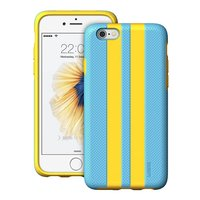 Защитный противоударный чехол ESR для iPhone 6 / 6s голубой+желтый  пластик-силикон