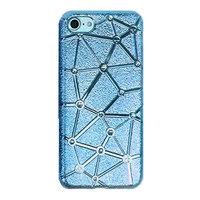 Мягкий силиконовый чехол со стразами для iPhone 7 / 8 голубой