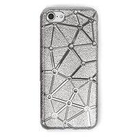 Силиконовый чехол со стразами для iPhone 7 / 8 серебристый