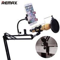 Держатель ,ШТАТИВ телефона и микрофона мобильная блог и аудио студия - REMAX Microphone holder stand home recording studio