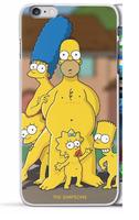 Пластиковый чехол накладка с рисунком для iPhone 6s / 6 The Simpsons - Симпсоны