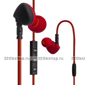 Красные Bluetooth беспроводные наушники для iPhone 7 / 7 Plus гарнитура с микрофоном - Hoco ES1 In-ear Sport Wireless Headset Bluetooth 4.1 Red