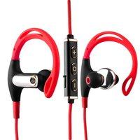 Красные Bluetooth наушники беспроводные для iPhone 7 / 7 Plus с микрофоном - Hoco EPB03 Magnetic Wireless Sport Earphone Bluetooth 4.1 Red