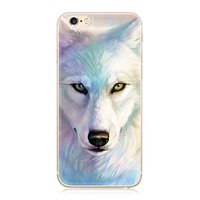 Силиконовый чехол для iPhone 7 / 8 с рисунком Белый Волк