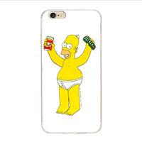 Чехол накладка для iPhone 5s / SE / 5 пластик рисунок Гомер Симпсон