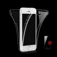 Прозрачный двусторонний силиконовый чехол для iPhone 5 / 5s / SE