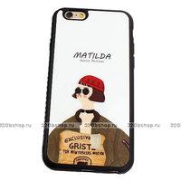 """Черный силиконовый чехол для iPhone 6 / 6s (4.7"""") Матильда - Matilda"""