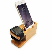 Деревянная док-станция подставка для Apple Watch и iPhone - Wood Stand натуральное  дерево