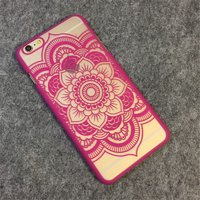 Пластиковый чехол для iPhone 7 / 8 рисунок цветок узор розовый