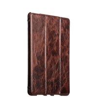 Коричневый кожаный чехол для iPad Pro 12.9 i-Carer Oil Wax Vintage Genuine Leather Folio Case