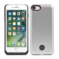 Серебряный чехол аккумулятор для iPhone 7 - 3800mAh