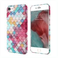 Пластиковый чехол для iPhone 7 / 8 рисунок 3D кожа змеи покрытие Soft Touch