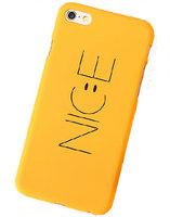 Желтый пластиковый чехол для iPhone 7 / 8 NICE покрытие Soft Touch