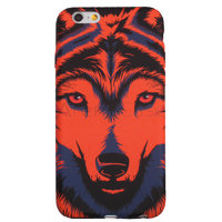 Пластиковый чехол для iPhone 7 / 8 покрытие Soft Touch рисунок Красный волк