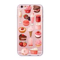 """Прозрачный силиконовый чехол для iPhone 6 / iPhone 6s (4.7"""") с рисунком сладости"""