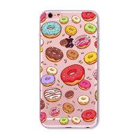 Чехол накладка для iPhone 5s / SE / 5 прозрачный силикон с рисунком пончики